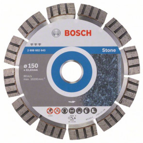 Bosch Diamantový dělicí kotouč Best for Stone 150 x 22,23 x 2,4 x 12 mm