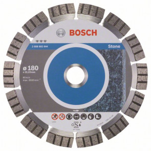 Bosch Diamantový dělicí kotouč Best for Stone 180 x 22,23 x 2,4 x 12 mm