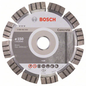 Bosch Diamantový dělicí kotouč Best for Concrete 150 x 22,23 x 2,4 x 12 mm