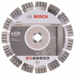 Bosch Diamantový dělicí kotouč Best for Concrete 230 x 22,23 x 2,4 x 15 mm