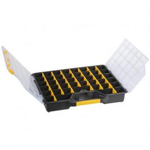 Allit 457430 Zásobník krabička s přihrádkami 465x375x75mm černá