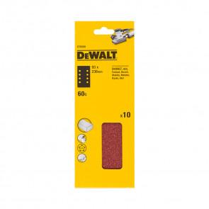 DeWalt DT8590 1/3 děrovaného archu brusného papíru - 8 rovnoběžných otvorů