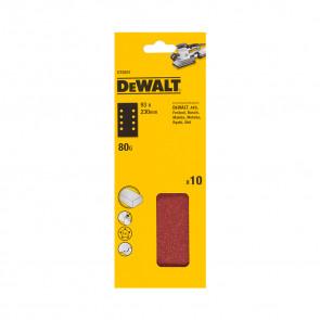 DeWalt DT8591 1/3 děrovaného archu brusného papíru - 8 rovnoběžných otvorů