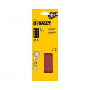 DeWalt DT8592 1/3 děrovaného archu brusného papíru - 8 rovnoběžných otvorů