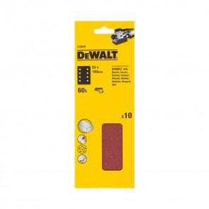 DeWalt DT8620 1/3 děrovaného archu brusného papíru - suchý zip - 8 rovnoběžných otvorů