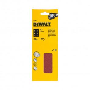 DeWalt DT8621 1/3 děrovaného archu brusného papíru - suchý zip - 8 rovnoběžných otvorů