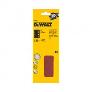 DeWalt DT8622 1/3 děrovaného archu brusného papíru - suchý zip - 8 rovnoběžných otvorů
