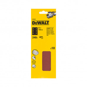 DeWalt DT8624 1/3 děrovaného archu brusného papíru - suchý zip - 8 rovnoběžných otvorů