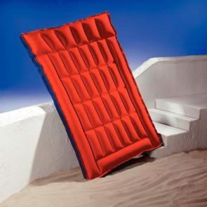 Dvojitá nafukovací matrace červená/modrá