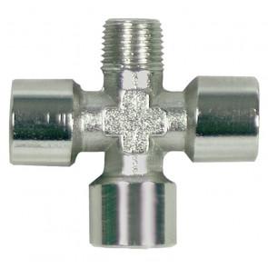 Krížový kus 1 vonkajšie, 3 vnútorné závity KZS-NI R1/4a-3xG1/4i