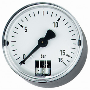 tandardné manometer MM-W 63-1/4 25bar vodorovný