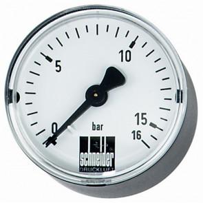 tandardné manometer MM-W 50-1/4 25bar vodorovný
