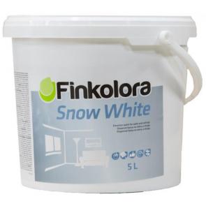 Finkolora Snow White 5L - 7,5kg kvalitní otěruvzdorná bílá barva
