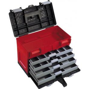 Plastový box na náradie 4-zásuvkový 450 x 250 x 325 mm
