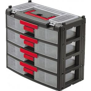 Plastová skrinka na súčiastky so 4 zásuvkami 390 x 200 x 340 mm