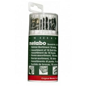 Metabo 627190 18dílná sada vrtáků dřevo | kov | beton