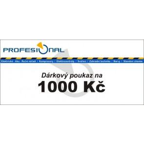 Dárkový poukaz naradiprofesional.cz v hodnotě 1000 Kč