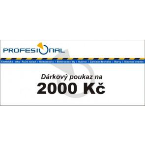 Dárkový poukaz naradiprofesional.cz v hodnotě 2000 Kč