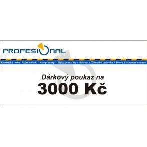 Dárkový poukaz naradiprofesional.cz v hodnotě 3000 Kč