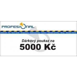 Dárkový poukaz naradiprofesional.cz v hodnotě 5000 Kč