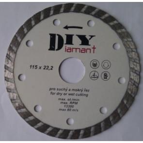 DIYT115 - Diamantový řezný kotouč DIY - TURBO