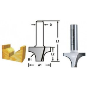 Makita D-48175 Profilová fréza 38,1x28,6x60,3xR12,7