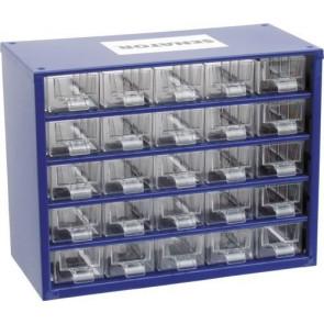 Skrinka zásobné na malé súčiastky 25 zásuviek SCS025