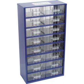 Skrinka zásobné na malé súčiastky 16 zásuviek SCM016
