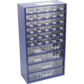Skrinka zásobné na malé súčiastky 36 zásuviek SCC036