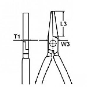 KNIPEX Ploché kliešte 160mm 2001160