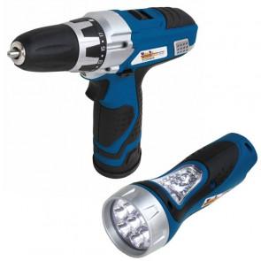 WB 12 V Li vŕtací aku skrutkovač s LED svietidlom