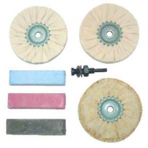 Leštiace kotúče - sada železné kovy