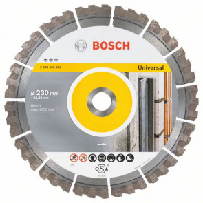 Bosch Diamantový dělicí kotouč Best for Universal 230 x 22,23 x 2,4 x 15 mm